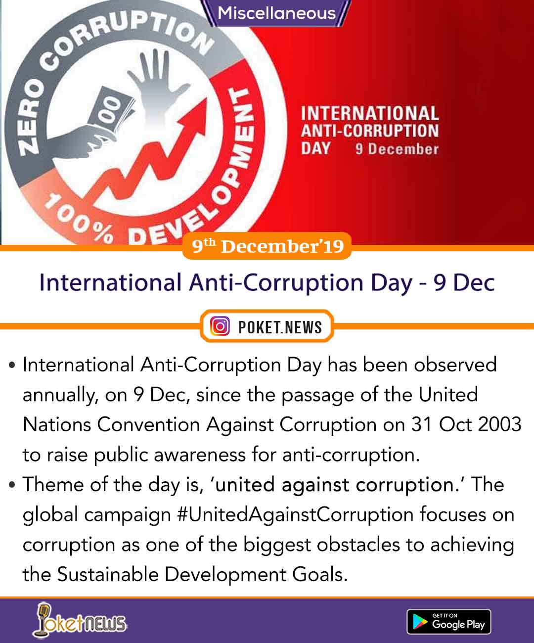 International Anti-Corruption Day - 9 Dec