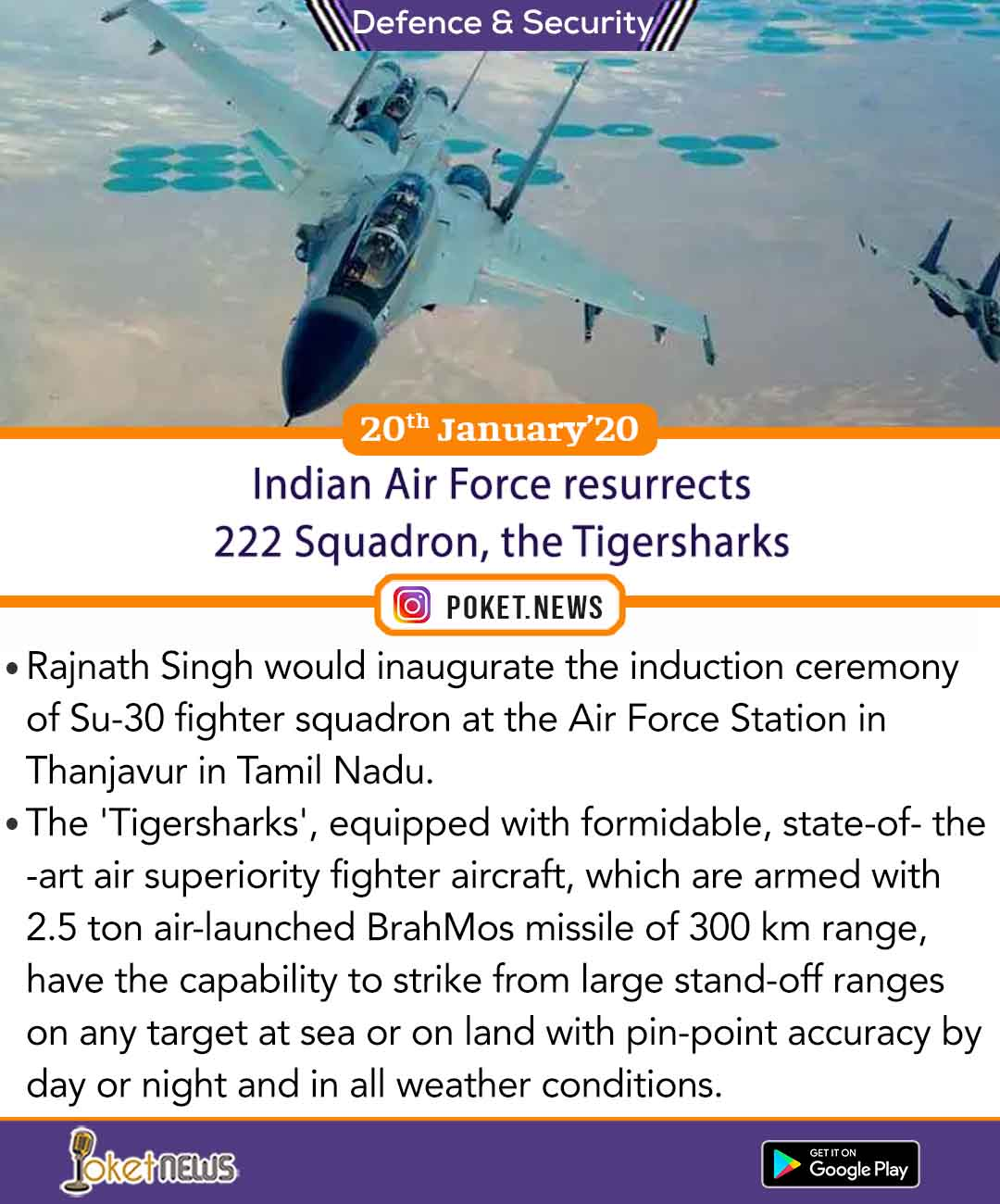 Indian Air Force resurrects 222 Squadron, the Tigersharks