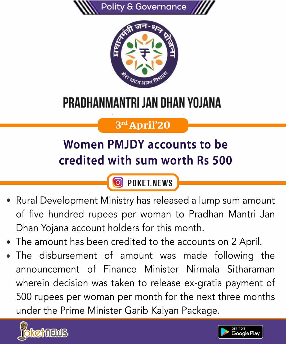 Women PMJDY accounts to be credited with sum worth Rs 500