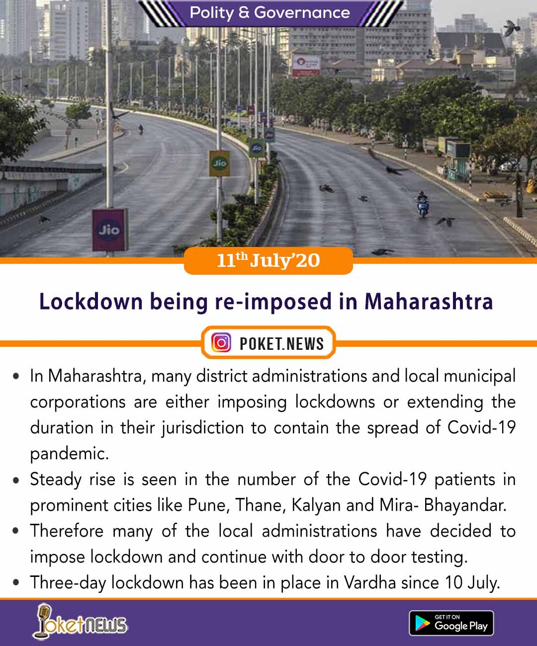 Lockdown being re-imposed in Maharashtra