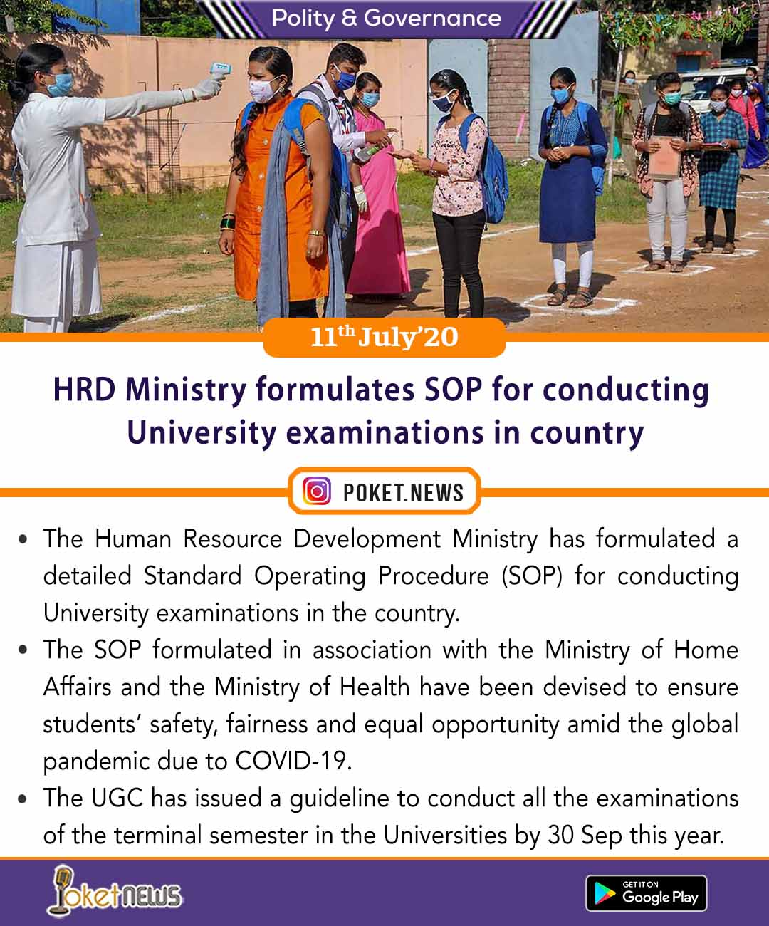 HRD Ministry formulates SOP for conducting University examinations in country