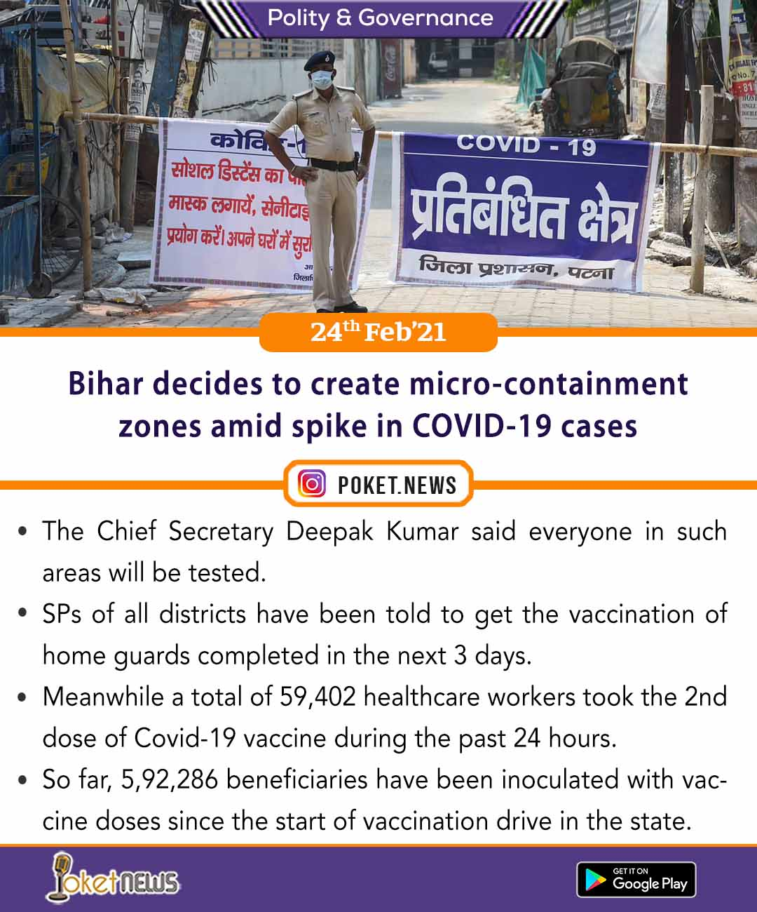 Bihar decides to create micro-containment zones amid spike in COVID-19 cases