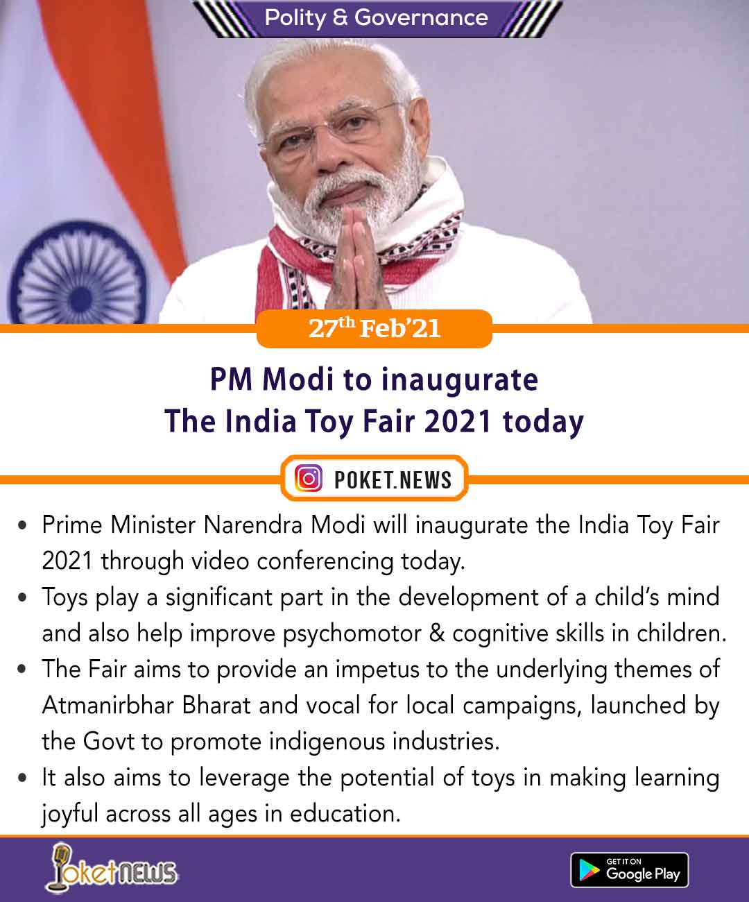 PM Modi to inaugurate The India Toy Fair 2021 today
