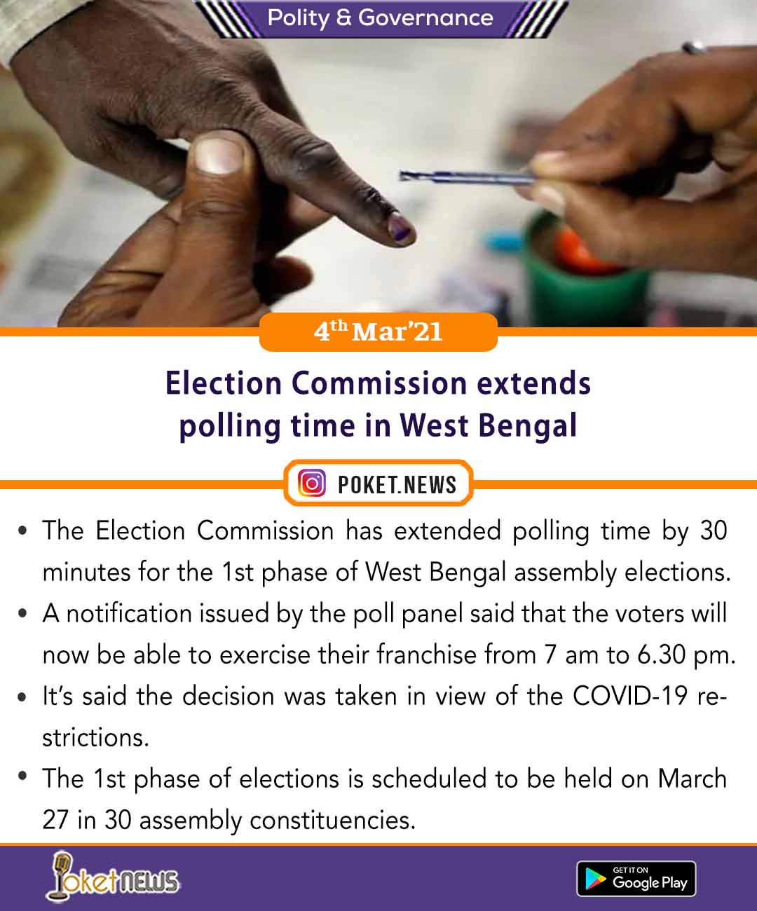 Election Commission extends polling time in West Bengal