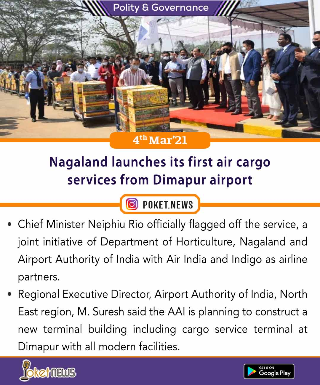 Nagaland launches its first air cargo services from Dimapur airport