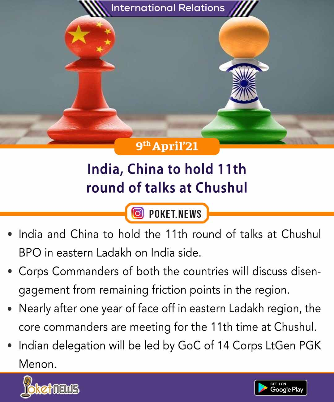 India, China to hold 11th round of talks at Chushul