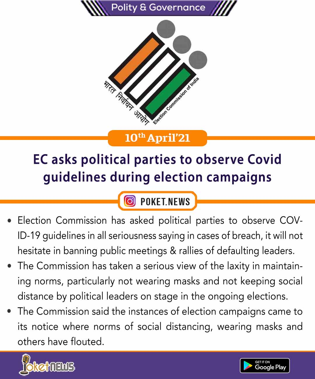EC asks political parties to observe Covid guidelines during election campaigns