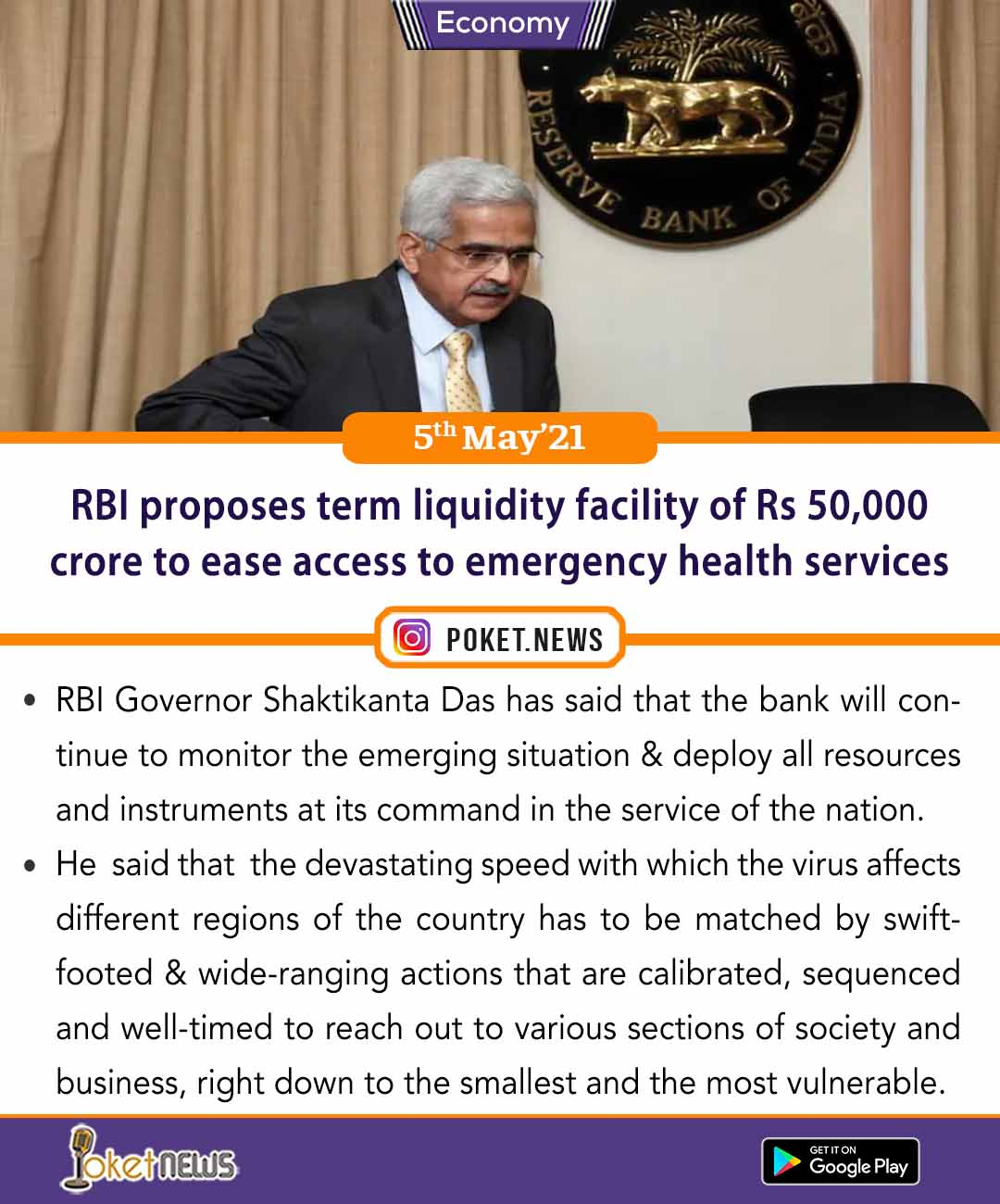 RBI proposes term liquidity facility of Rs 50,000 crore to ease access to emergency health services