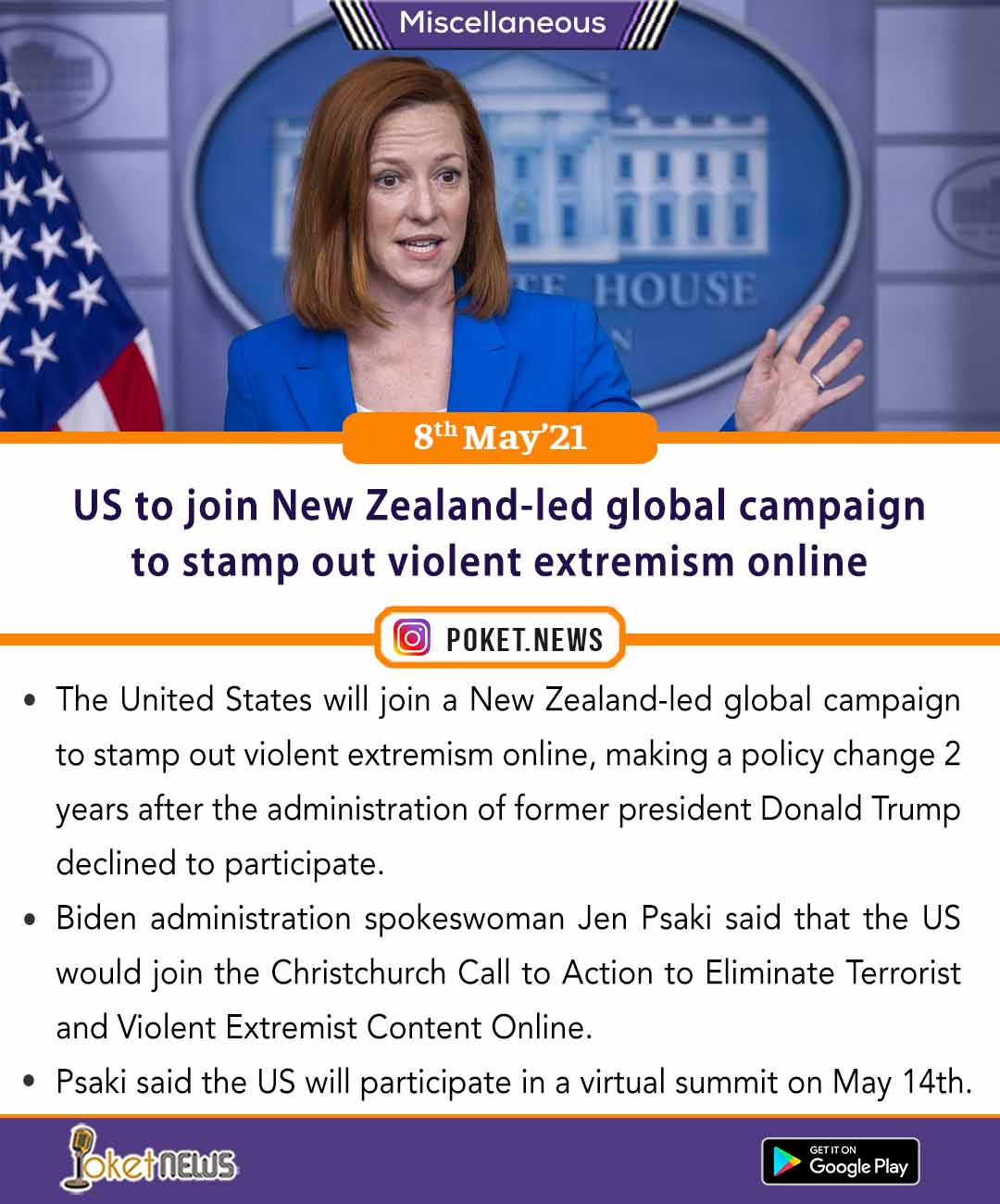 US to join New Zealand-led global campaign to stamp out violent extremism online