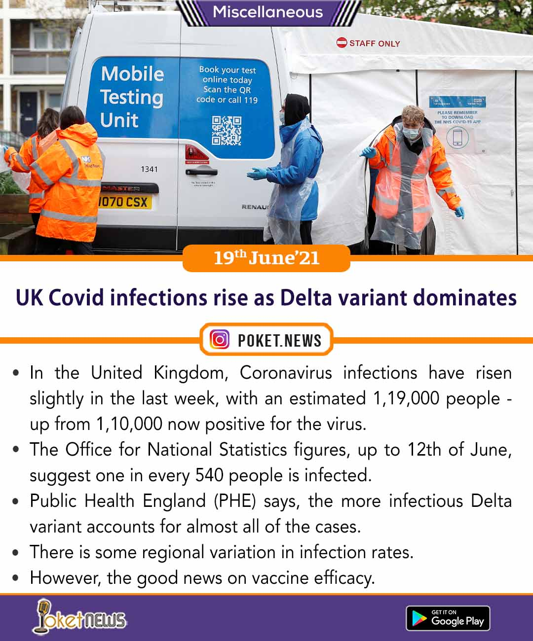 UK Covid infections rise as Delta variant dominates