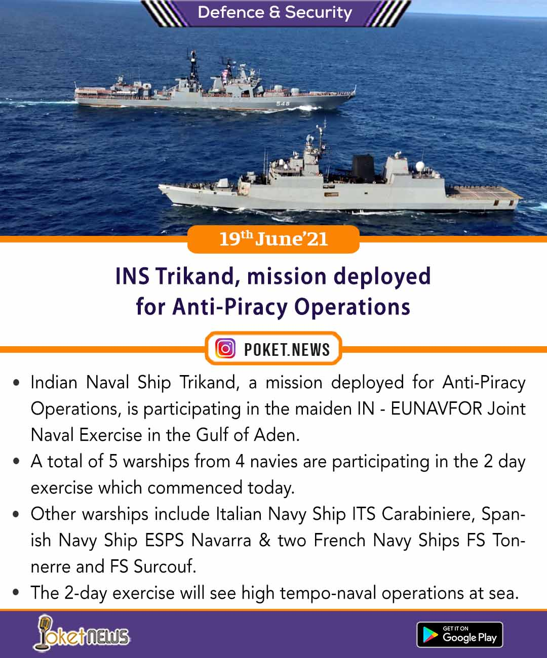 INS Trikand, mission deployed for Anti-Piracy Operations