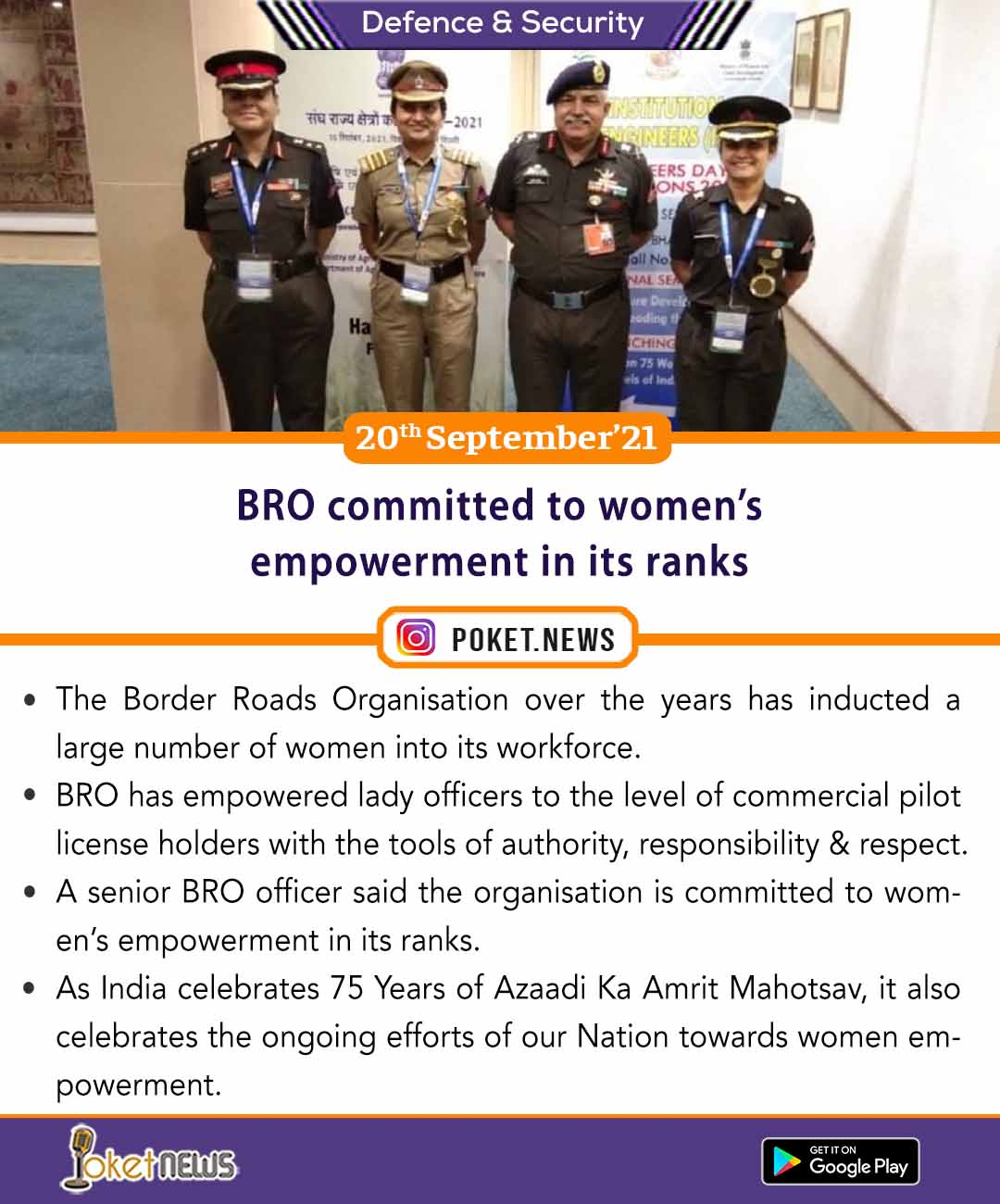 BRO committed to women's empowerment in its ranks